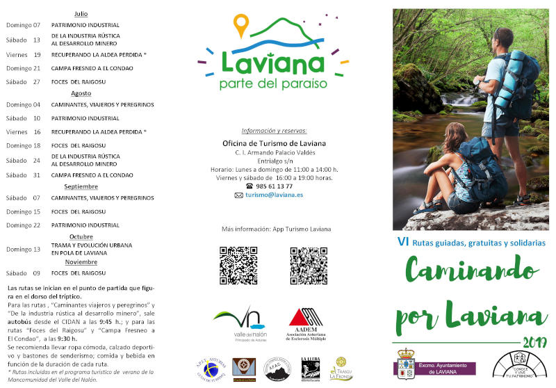 Folleto Caminando por Laviana