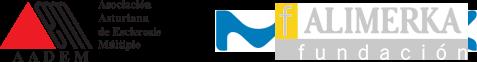 logos AADEM y ALIMERKA