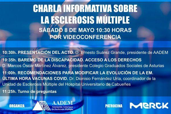 Cartel anunciador Charla Esclerosis